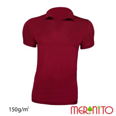 Tricou barbatesc Polo Jersey 150g merino + modal