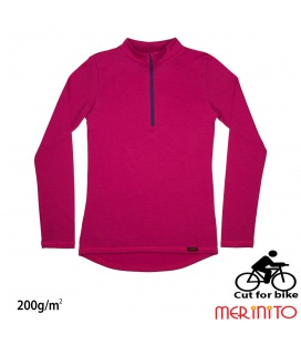 Bluza dama Merinito Cut For Bike 200g 100% lana merinos