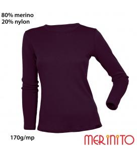 Bluza dama 170g 80%merino 20%nylon