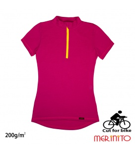 Tricou dama Merinito Cut For Bike 200g 100% lana merinos