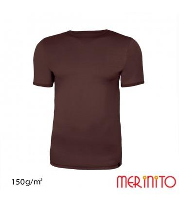 Tricou barbatesc maneca scurta 100% merino 150g/mp