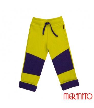 Pantaloni copii din lana fiarta