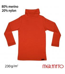 Bluza copii Turtleneck  230g/mp lana merinos