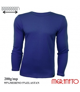 Bluza barbateasca  200g/mp 95% merino 5% elastan