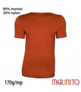 Tricou Merinito  maneca scurta 100% lână merinos
