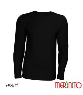 Bluza barbati Merinito 240g lana merinos si bambus