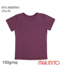 Tricou copii 150 g/mp 85% merino 15% in