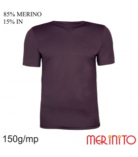 Tricou barbatesc 150 g/mp 85% merino 15% in