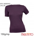Tricou dama 150 g/mp 85% merino 15% in
