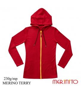 Hanorac dama Merinito merinos Terry 230g 100% lana merinos