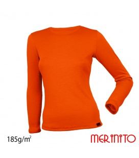 Bluza dama 100% lana merinos 185g/mp