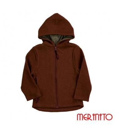 Jacheta copii 100% lana merino fiarta