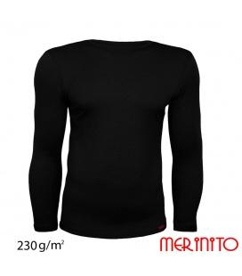 Bluza barbateasca  lana merinos 230g/mp