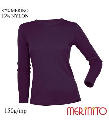 Bluza dama  87% merino 13% nylon 150g/mp