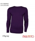 Bluza barbatesca  87% merino 13% nylon 150g/mp