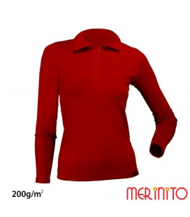 """Polo Jersey"" dama 100% lana merinos 200g/mp"