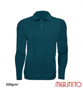 """ Polo Jersey "" barbatesc 100% lana merinos  200g/mp"