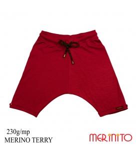 Pantaloni copii Merinito Baggy Pants 230g lana merinos
