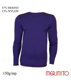 Bluza barbatesca  87% merino 13% nylon 150g/mp