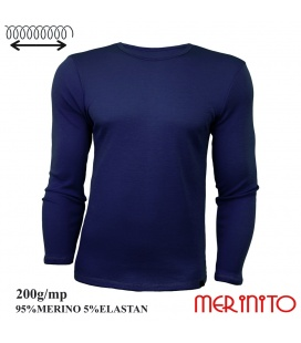 Bluza barbati Merinito 200g 95% lana merinos 5% elastan