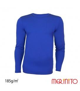 Bluza barbateasca 100% lana merinos 185g/mp