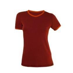 Merino wool tshirt wine-orange Merinito