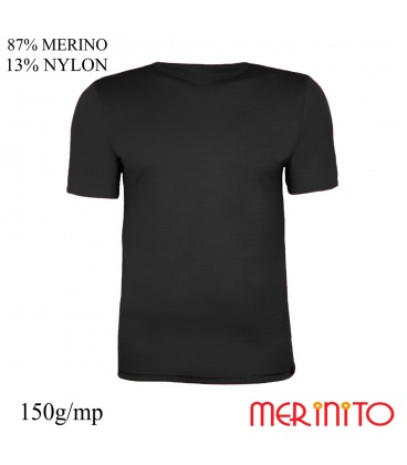 Tricou barbatesc 87% merino 13% nylon 150g/mp