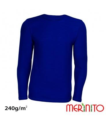 Tricou barbatesc  merino+bambus 240g