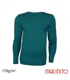 Bluza barbateasca lana merinos 170g/mp