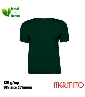 Tricou barbati Merinito 135g 80% tencel 20% lana merinos