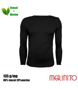 Bluza barbati Merinito 135g 80% tencel 20% lana merinos