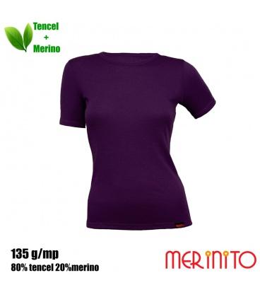 Tricou dama Merinito 135g 80% tencel 20% lana merinos