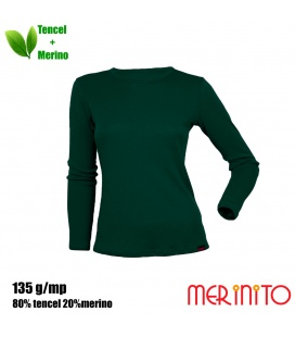 Bluza dama Merinito 135g 80% tencel 20% lana merinos