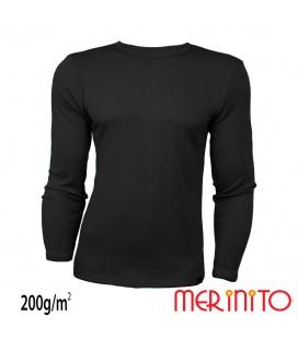 Bluza barbateasca 100% lana merinos 200g/mp