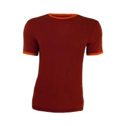 Tricou barbatesc mov-portocaliu 100% merinos