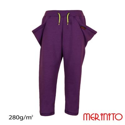 "Pantaloni lana copii cu buzunare ""Triunghi"" 100% merino 280g"