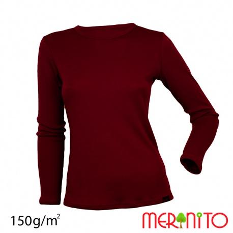 Tricou dama  merino + modal 150g