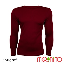 Bluza barbateasca merino+modal 150g/mp