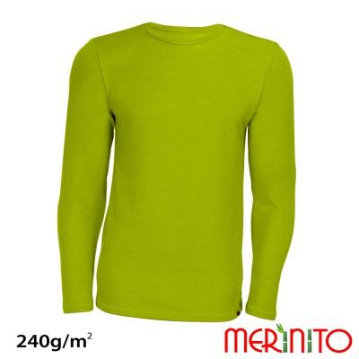 "Tricou Merinito merino + bambus 240g ""limoncello"""