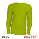 "Bluza barbateasca merino + bambus 240g/mp  ""Limoncello"""