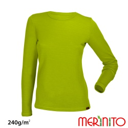 "Bluza dama merino+bambus 240g ""Limoncello"""