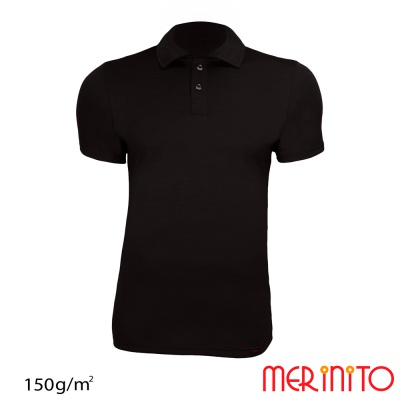 "Tricou barbatesc ""Polo Jersey Anthracite"" maneca scurta  150g"
