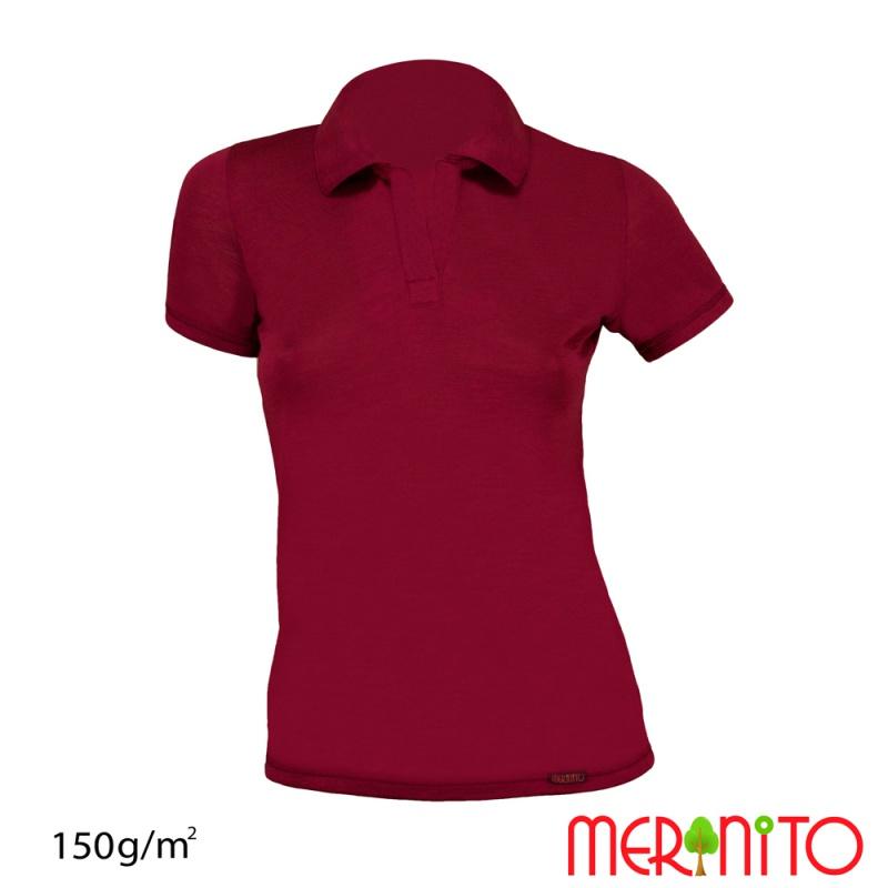 """Tricou de dama """"Polo Jersey """"  150g merino + modal"""