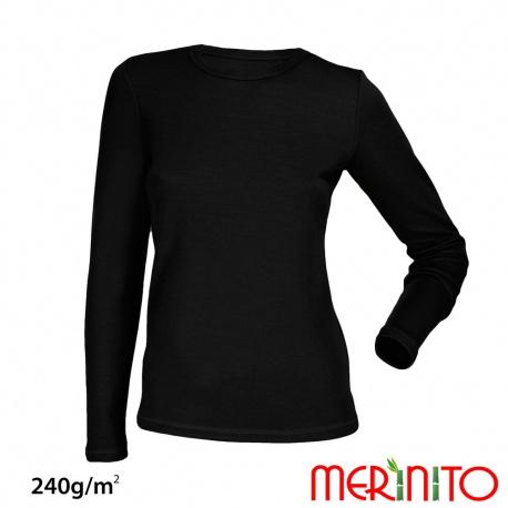 Bluza de corp dama  merino + bambus 240g