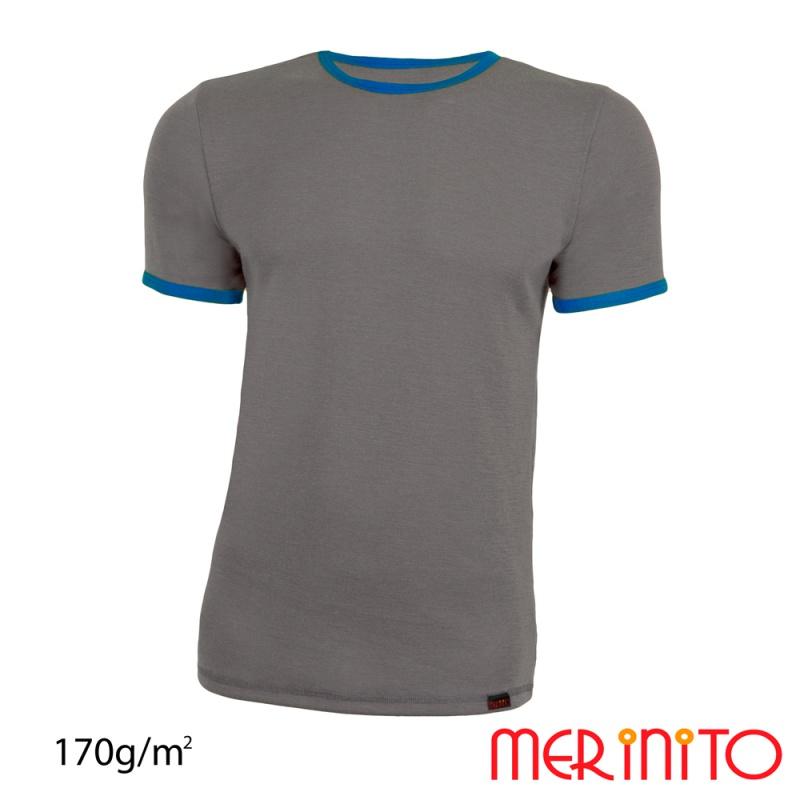 Tricou barbatesc bicolor 170g/mp