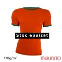 Tricou barbatesc portocaliu-verde 100% merinos