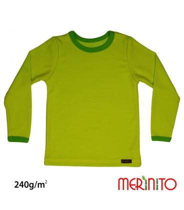 Bluza copii lana merinos si bambus 240g