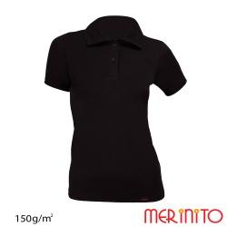 """Tricou de dama """"Polo Jersey Anthracite"""" maneca scurta  150g"""