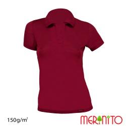 Tricou de dama Polo Jersey 150g merino + modal